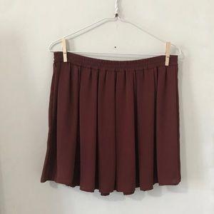 Brandy Melville John Galt rust skirt